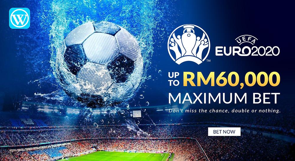 UEFA European Championship 2020 Tonight Maximus Bet RM60000