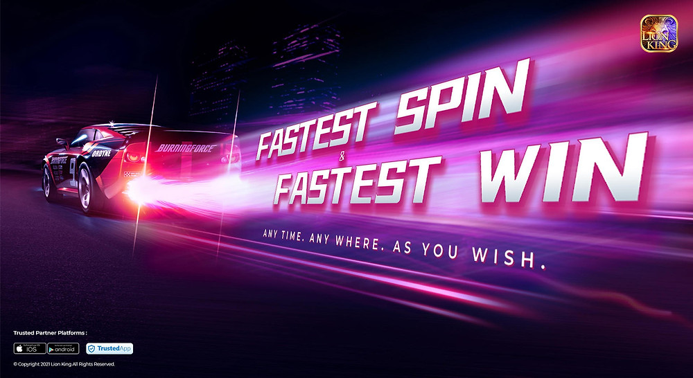 Smooth game play. Speedy spin & speedy stop, easy win ever! Good luck and good wishes!