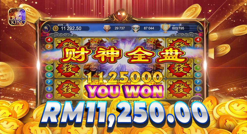 Lion King Slots Game WINBOX Casino Malay