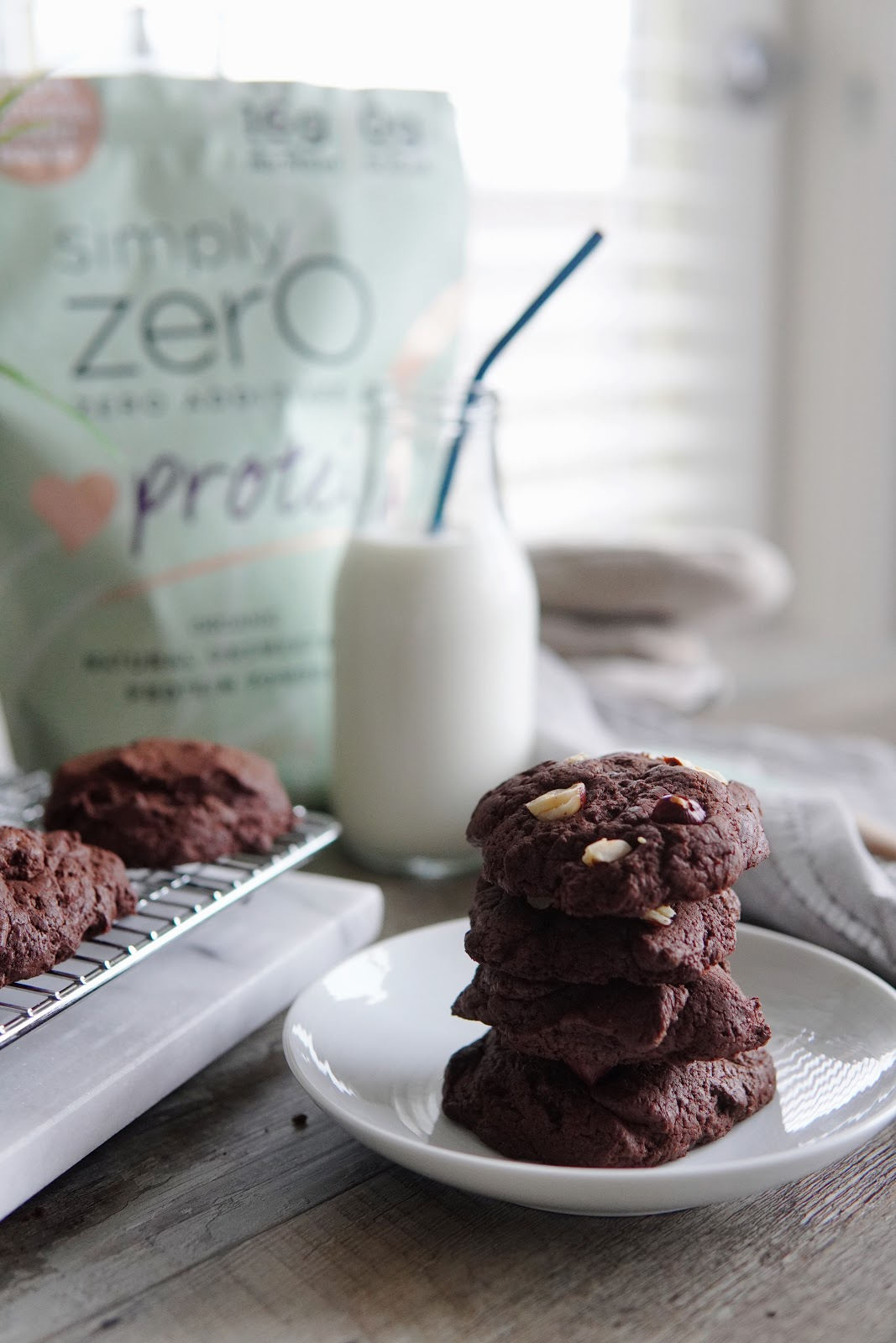 Hazelnut Double Chocolate Cookies
