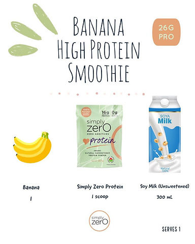 26g Protein Banana Unsweetened Soy Milk_