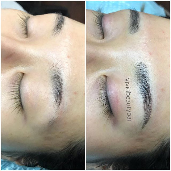 Perfect natural brows made with fine str