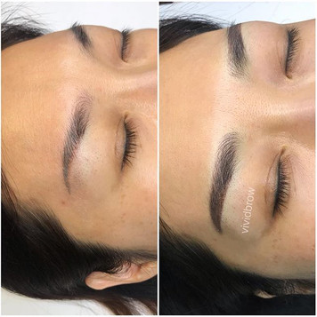Correction made to brows that were done