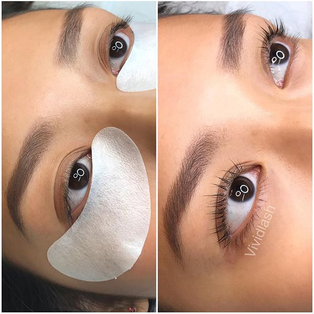 Eyelash lift enhancement got beautiful e
