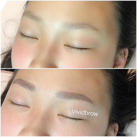 This client came to get her brows microb