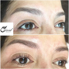 After Lash perm & healed Microblading ey