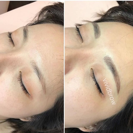 Microblading done naturally, carefully a
