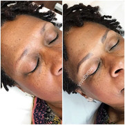 Fresh and microbladed brows created with