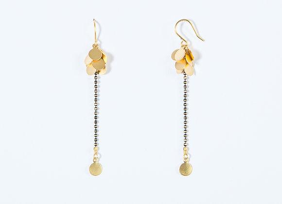 Boucles d'Oreille Grappe d'Or