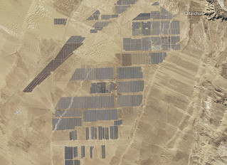 Solar In Saskatchewan - What 4 million panels from space looks like!