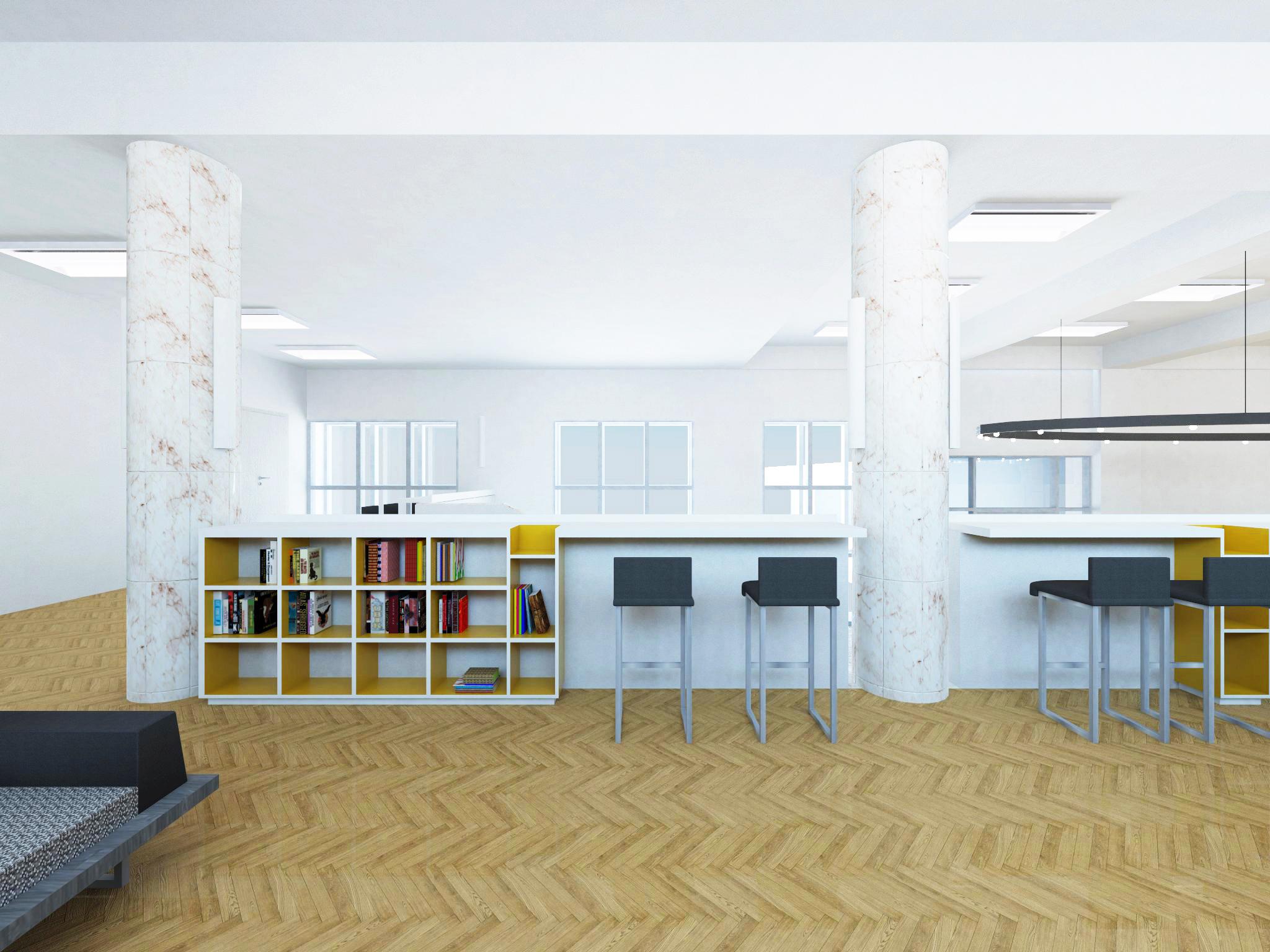 Зона чтения и работы на 2-м этаже