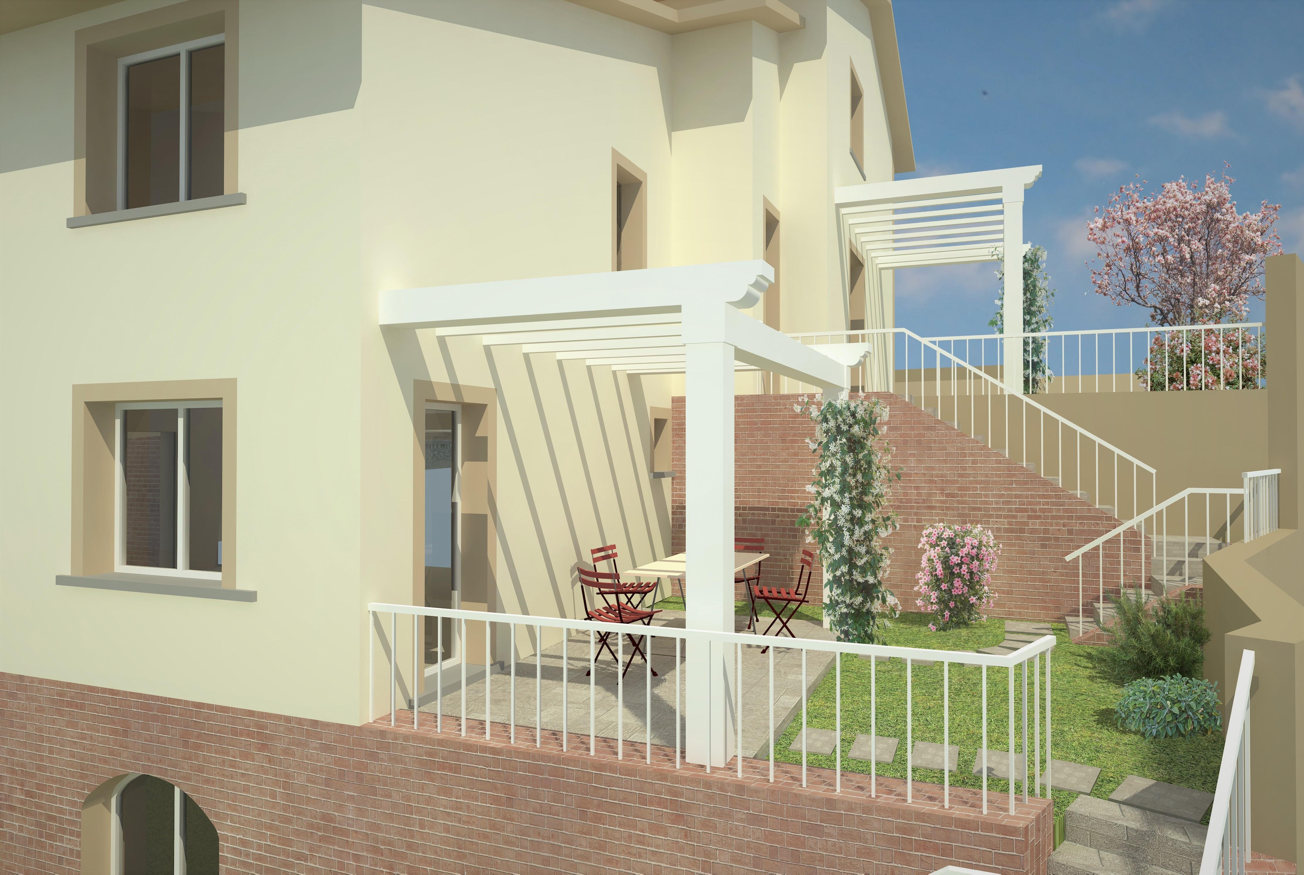 giardino villa panoramica - AplusP