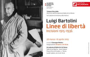 """""""LINEE DI LIBERTÀ"""", LE INCISIONI DI LUIGI BARTOLINI ALL'ACCADEMIA DI BELLE ARTI"""