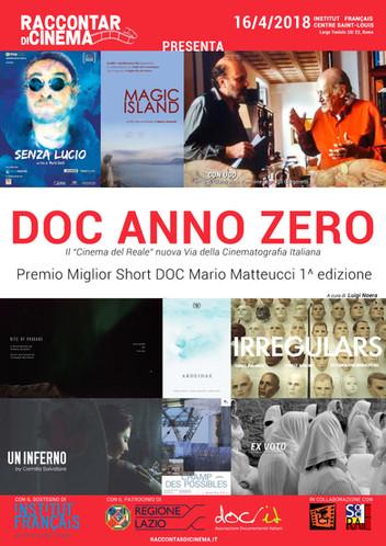 DOC ANNO ZERO 1^ Edizione:   IL CINEMA DEL REALE, NUOVA VIA DELLA CINEMATOGRAFIA ITALIANA