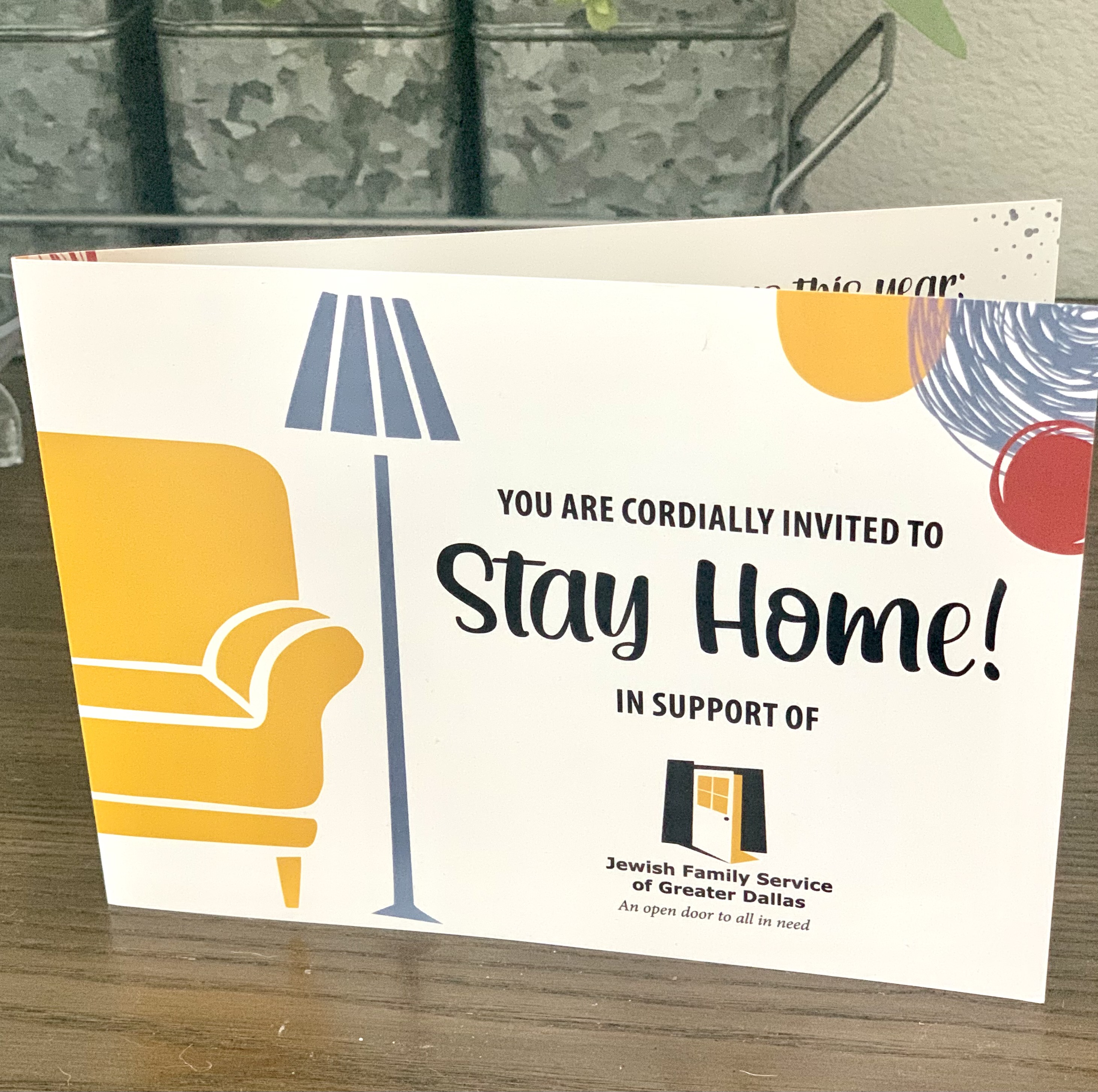 Stay Home non-event invitation