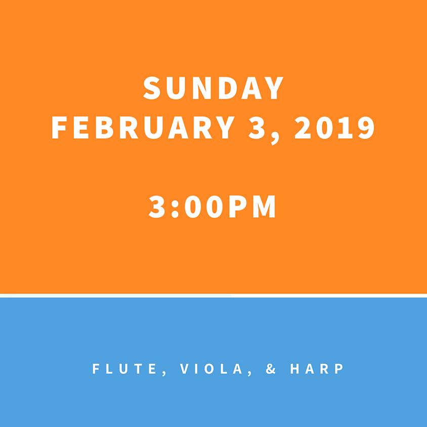 Flute, Viola, & Harp