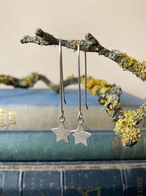 Long star earrings