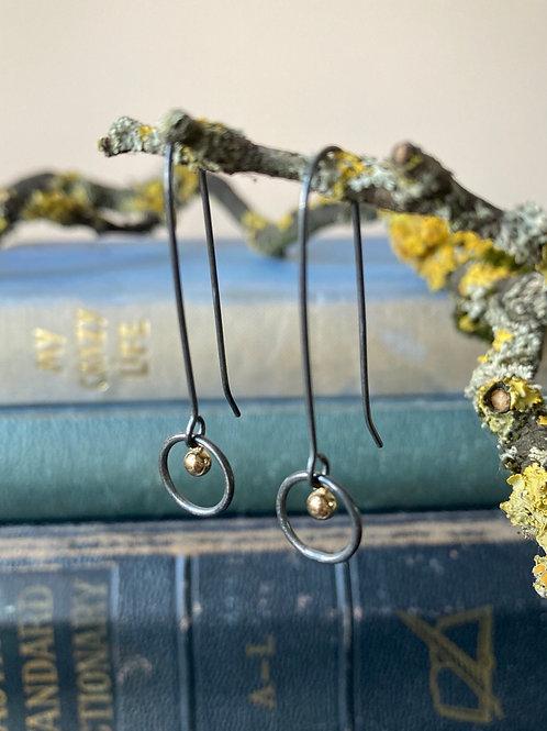 Iris oxidised earrings