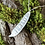 Thumbnail: Silver bean pendant