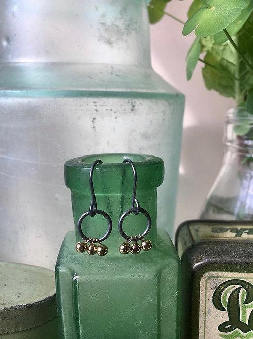 Murtle earrings oxidised