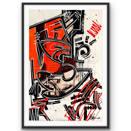 """Face 2"" Print"