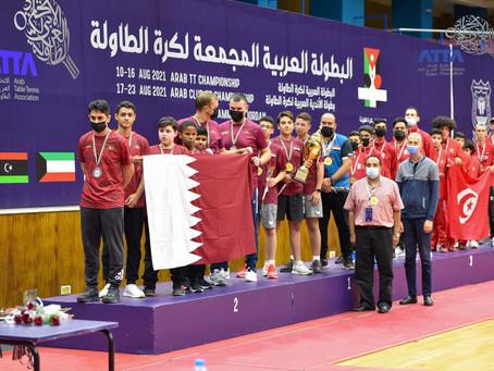 تتويج ابطال فرق الناشئين ضمن منافسات البطولة العربية المجمعة لكرة الطاولة