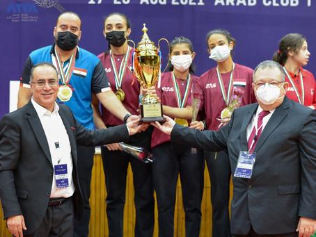 تتويج ابطال فرق الشابات ضمن منافسات البطولة العربية المجمعة لكرة الطاولة