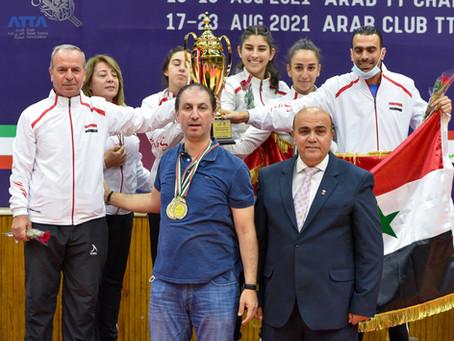 تتويج ابطال فرق الناشئات ضمن منافسات البطولة العربية المجمعة لكرة الطاولة