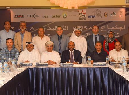 خلال الاجتماع الذي عقد اليوم برئاسة خليل المهندي قرارات تاريخية للمكتب التنفيذي بالاتحاد العربي
