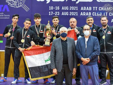 تتويج ابطال فرق الشباب ضمن منافسات البطولة العربية المجمعة لكرة الطاولة