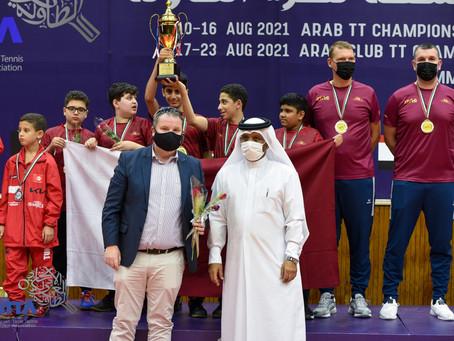 تتويج ابطال فرق الأشبال ضمن منافسات البطولة العربية المجمعة لكرة الطاولة