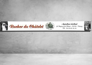 Banderole 280x30cm - Avec ourlets - Rucher du Châtelet