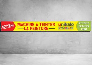 Banderole 1000x100cm - Quincaillerie Garnier