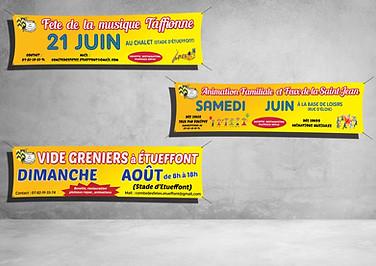 Banderoles 300x80 / 400x80 - Comité des Fêtes Etueffont
