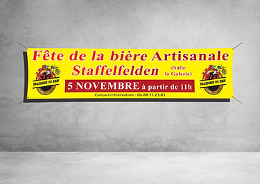 Banderole 300x100cm - Brasserie du Rhin