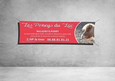 Banderole 300x100cm - Les Poneys du Lac