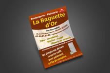 Flyers A5 - Boulangerie La Baguette d'Or