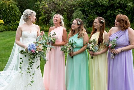 bridesmaids pastels curradine barns