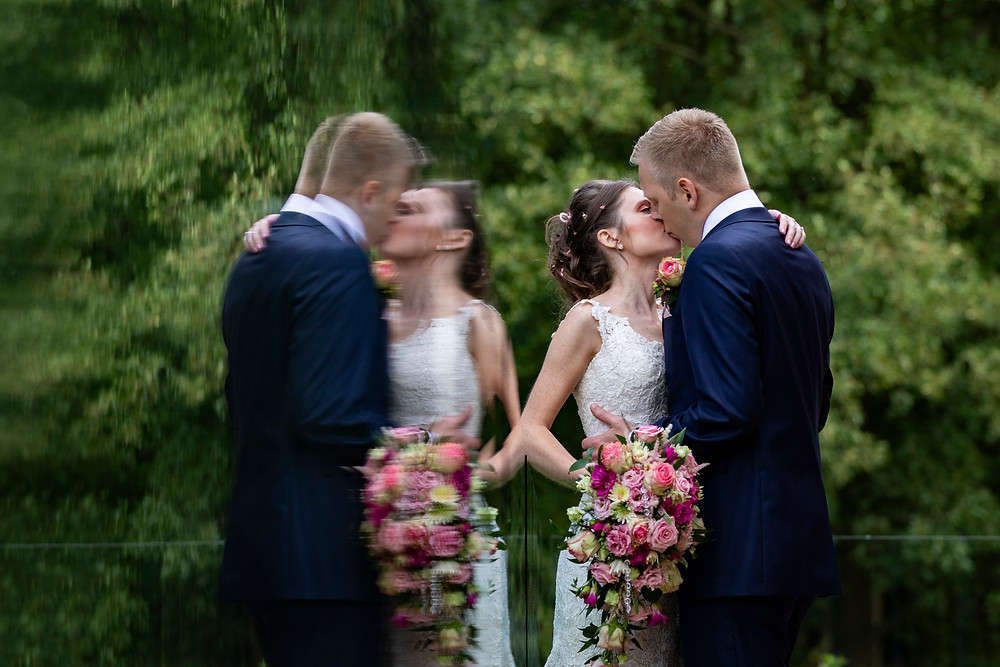 mill barns bride groom wedding photo