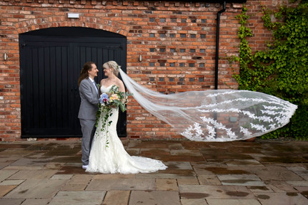 curradine barns bride groom wedding photo