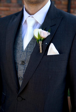 groom suit close up