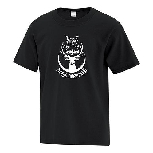 t-shirt logo du refuge noir