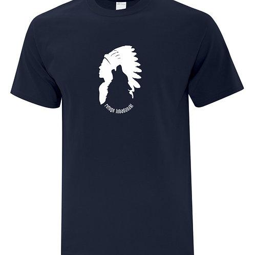 t-shirt loup bleu marin médium
