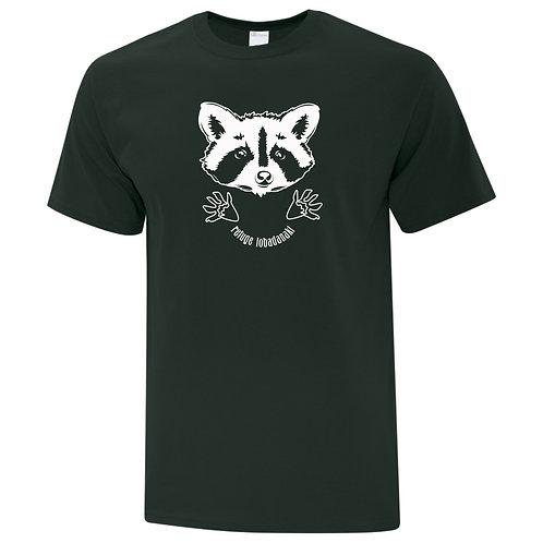 t-shirt raton vert foret large