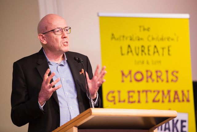 Morris Gleitzman at the launch of his campaign (Photo:Joy Lai, State Library of NSW)