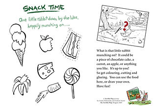 TERRIBLE PLOP Snack time activity cut an