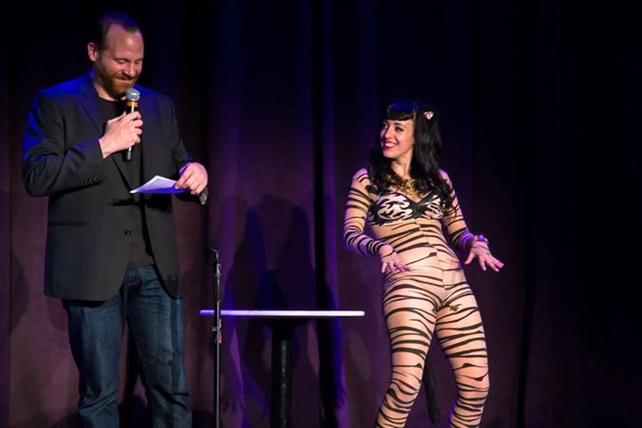 This kitty is showing her stripes! _inspireTheaterDtlv from #standupandTease may 15 2015