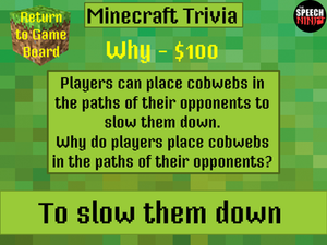Triple challenge trivia: A fun, interactive game to target