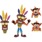 Crash Bandicoot - Figurine Ultra Deluxe avec Aku Aku