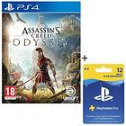Assassin's Creed Odyssey + Abonnement de 12 mois PS Plus